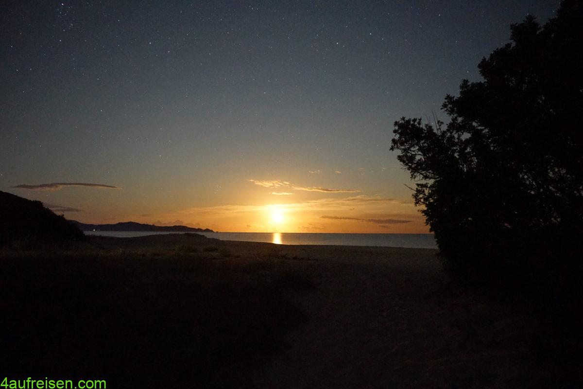 Sonnenuntergang an der Ostküste?