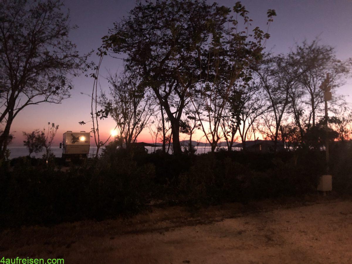 Sonnenuntergang Westküste.