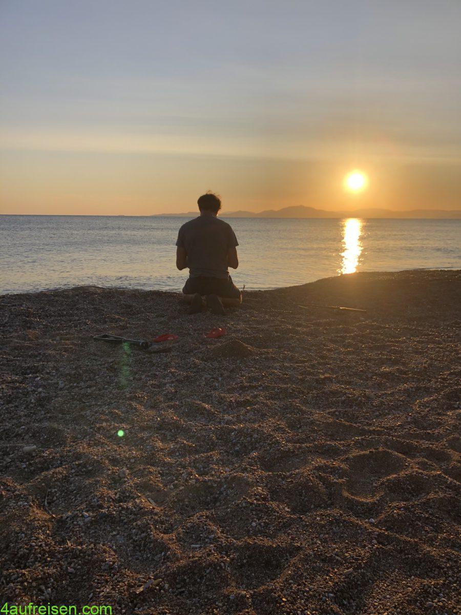 Bilder vom Sonnenuntergang gehen immer.