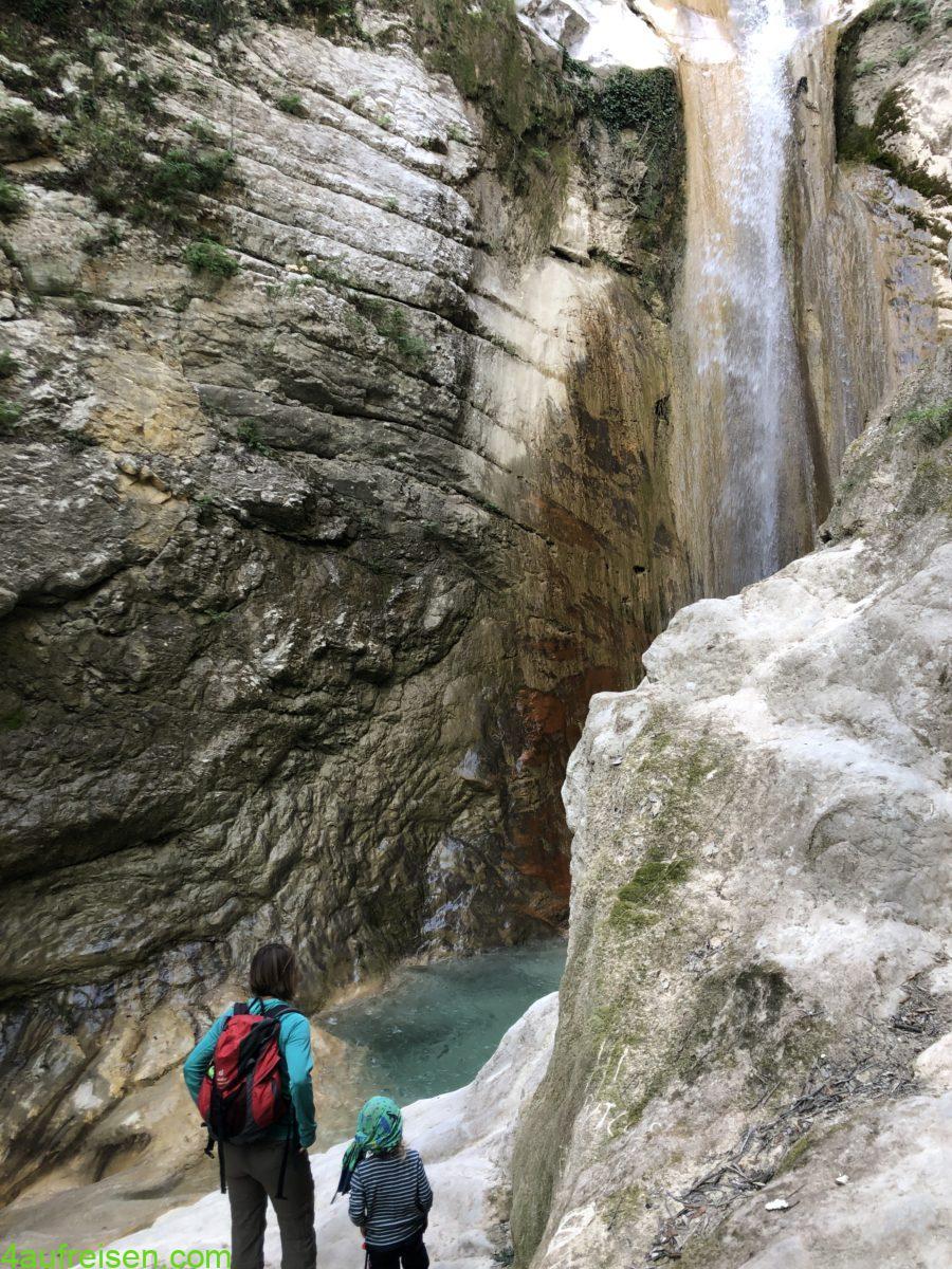 Nidri waterfalls.
