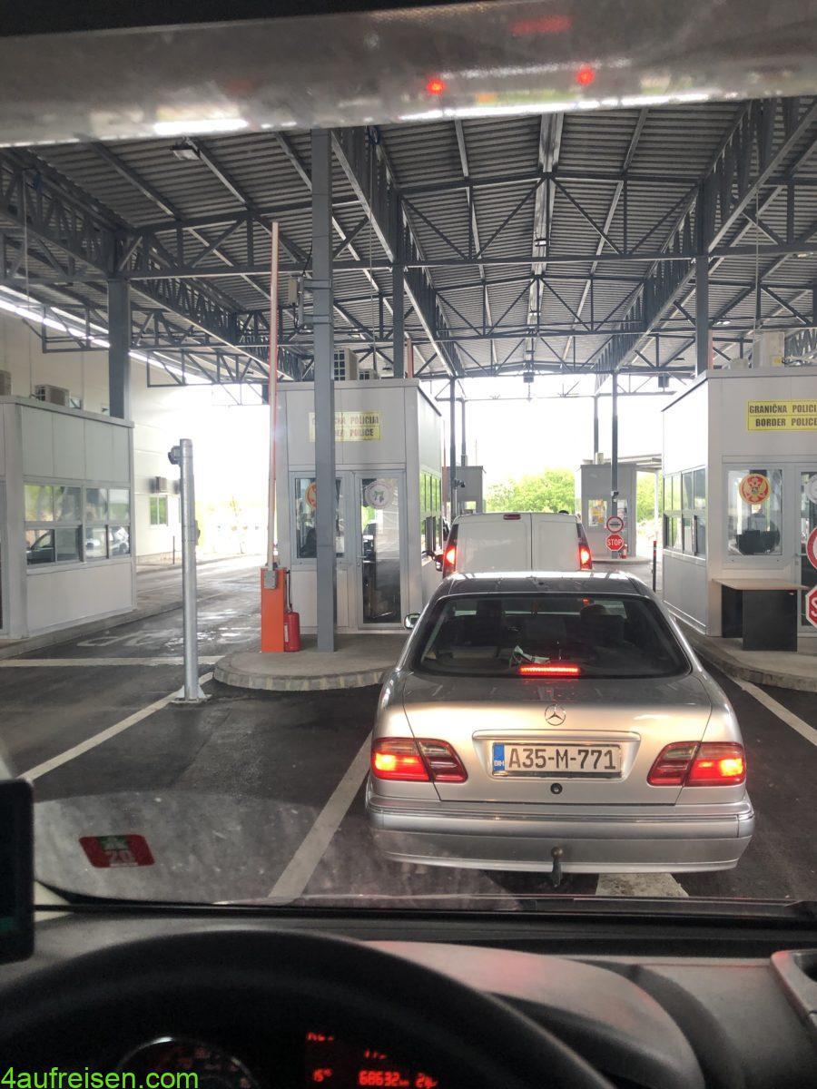 Grenzpassage.
